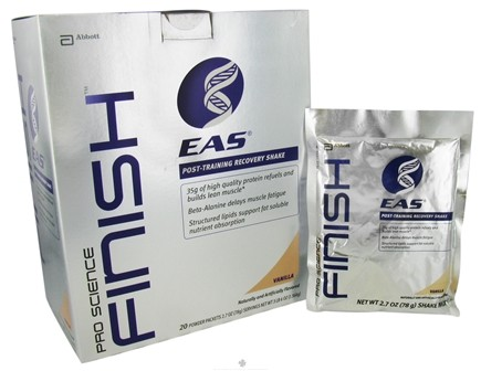 DROPPED: EAS - Pro Science Finish Post-Training Recovery Shake Vanilla - 20 Packet(s)