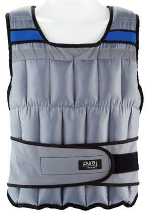 DROPPED: Pure Fitness - Weighted Adjustable Vest 40lb 8634WV
