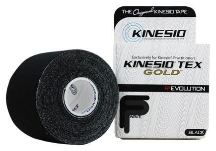 "Kinesio - Tex Tape Gold 2"" W x 16.4' L Black - 1 Roll(s)"
