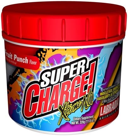 DROPPED: Labrada - Super Charge Xtreme NO Fruit Punch (320 Grams) - 11.8 oz. CLEARANCE PRICED