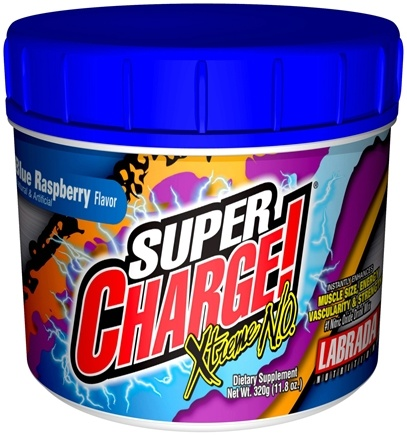 DROPPED: Labrada - Super Charge Xtreme NO Blue Raspberry (320 Grams) - 11.8 oz. CLEARANCE PRICED