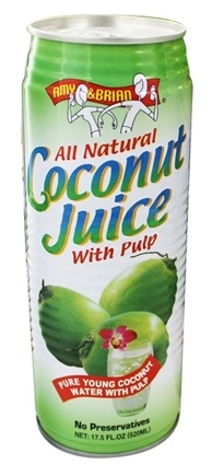Amy & Brian - All Natural Coconut Juice With Pulp - 17.5 oz.