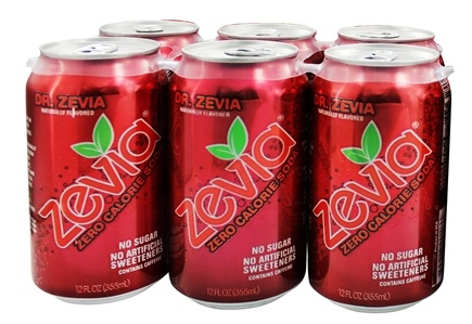 Zevia - All Natural Soda Sweetened with Stevia 12 oz. Cans Dr. Zevia Flavor - 24 Pack