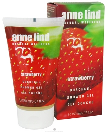 DROPPED: Borlind of Germany - Anne Lind Natural Wellness Shower Gel Strawberry - 5.07 oz. CLEARANCE PRICED