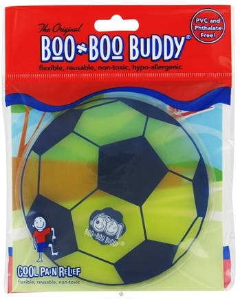 DROPPED: Boo Boo Buddy - Reusable Cold Pack Sport Designs Soccer Ball - CLEARANCE PRICED