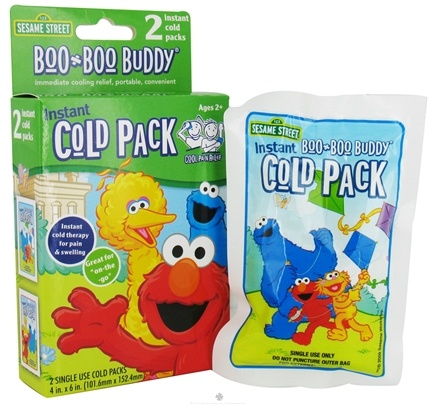 DROPPED: Boo Boo Buddy - Instant Cold Pack Sesame Street - 2 Pack CLEARANCE PRICED