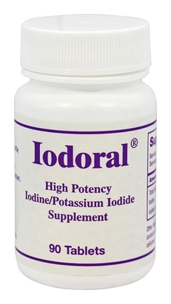 Optimox - Iodoral High Potency Iodine/Potassium Iodide Supplement - 90 Tablets