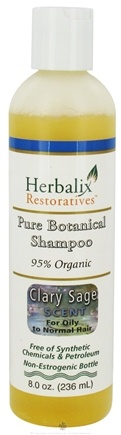 DROPPED: Herbalix Restoratives - Pure Botanical Shampoo For Oily To Normal Hair Clary Sage - 8 oz. CLEARANCE PRICED