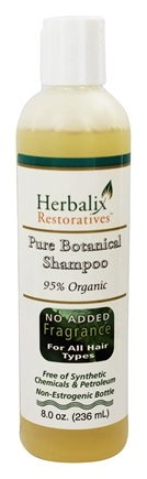 Herbalix Restoratives - Pure Botanical Shampoo For All Hair Types No Added Fragrance - 8 oz.