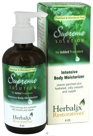 DROPPED: Herbalix Restoratives - Supreme Solution Intensive Body Moisturizer No Added Fragrance - 6 oz. CLEARANCE PRICED