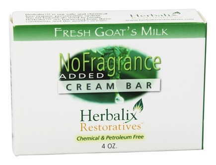 DROPPED: Herbalix Restoratives - Fresh Goat's Milk Cream Bar Soap No Added Fragrance - 4 oz.