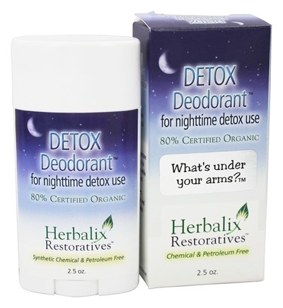 Herbalix Restoratives - Detox Deodorant For Nighttime Detox Use - 2.5 oz.