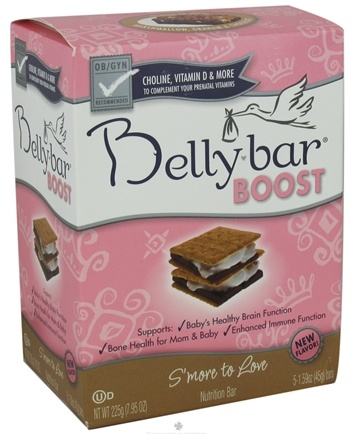 DROPPED: Belly Bar - Boost Nutrition Bar S'more To Love Marshmallow, Graham & Chocolate - 5 Bars