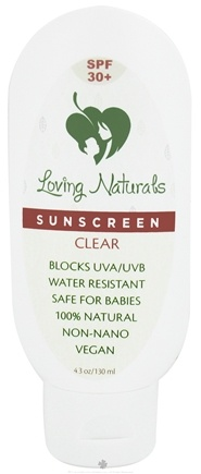 DROPPED: Loving Naturals - Non-Nano Sunscreen Clear Vegan 30 SPF - 4.3 oz. CLEARANCE PRICED