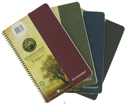 """DROPPED: Roaring Spring - Environotes Notebook 1 Subject College Ruled Recycled 9.5"""" x 6"""" - 80 Sheet(s)"""