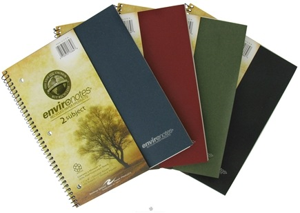 """DROPPED: Roaring Spring - Environotes Notebook 2 Subject College Ruled Recycled 11"""" x 9"""" - 100 Sheet(s) CLEARANCE PRICED"""