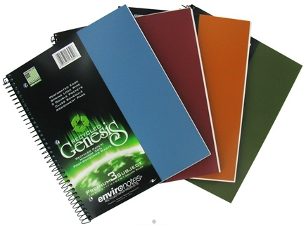 "DROPPED: Roaring Spring - Environotes Notebook Genesis Premium 3 Subject College Ruled Recycled 11"" x 8.5"" - 120 Sheet(s) CLEARANCE PRICED"