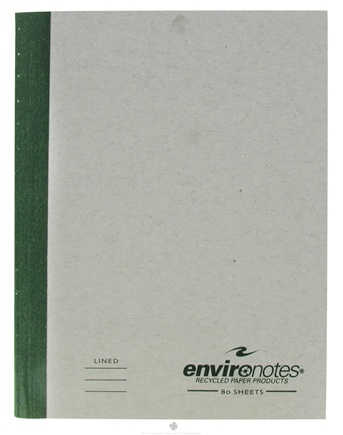 """DROPPED: Roaring Spring - Environotes Composition Notebook College Ruled Recycled 9.75"""" x 7.5"""" - 80 Sheet(s)"""