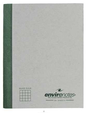 """DROPPED: Roaring Spring - Environotes Composition Notebook Quad Ruled Recycled 9.75"""" x 7.5"""" - 80 Sheet(s)"""