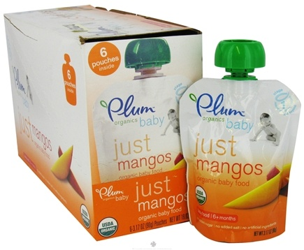 DROPPED: Plum Organics - Organic Baby Food Just Mangos 6+ months - 3.5 oz. CLEARANCE PRICED
