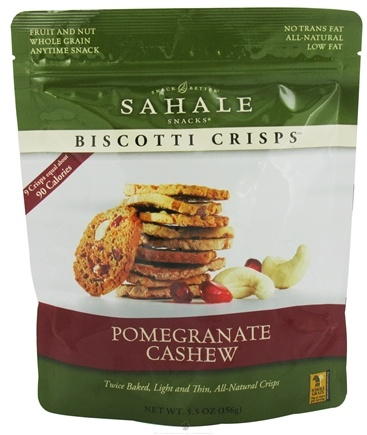DROPPED: Sahale Snacks - Biscotti Crisps Pomegranate Cashew - 5.5 oz.