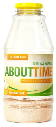 DROPPED: About Time - Whey Protein Isolate RTD Birthday Cake - 1 oz.