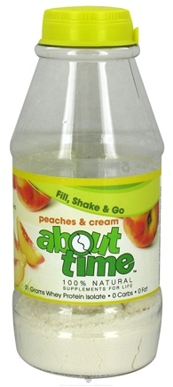 DROPPED: About Time - Whey Protein Isolate RTD Peaches & Cream - 1 oz.