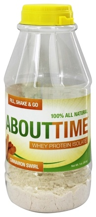 DROPPED: About Time - Whey Protein Isolate RTD Cinnamon Swirl - 1 oz.