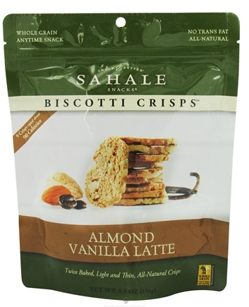 DROPPED: Sahale Snacks - Biscotti Crisps Almond Vanilla Latte - 5.5 oz.