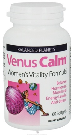DROPPED: Natural Factors - Balanced Planets Venus Calm Women's Vitality Formula - 60 Softgels CLEARANCE PRICED