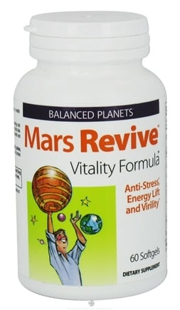 DROPPED: Natural Factors - Balanced Planets Mars Revive Vitality Formula - 60 Softgels CLEARANCE PRICED