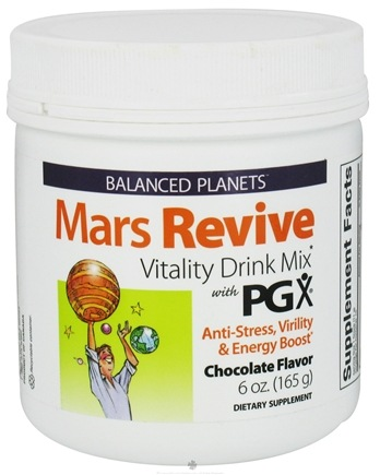DROPPED: Natural Factors - Balanced Planets Mars Revive Vitality Drink Mix With PGX Chocolate Flavor - 6 oz. CLEARANCE PRICED