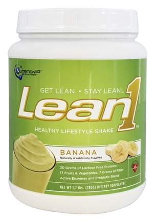 DROPPED: Nutrition 53 - Lean1 Fat Burning Meal Replacement Banana Cream - 1.7 lbs.
