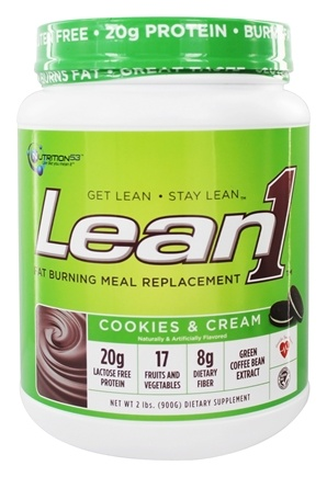 DROPPED: Nutrition 53 - Lean1 Performance Shake Cookies & Cream - 2 lbs.