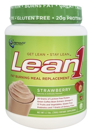 Nutrition 53 - Lean1 Fat Burning Meal Replacement Strawberry - 1.7 lbs.