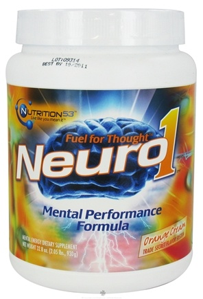 DROPPED: Nutrition 53 - Neuro1 Mental Performance Formula Orange Cream - 2.05 lbs.