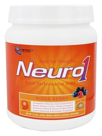 Nutrition 53 - Neuro1 Mental Performance Formula Mixed Berry - 1.37 lbs.
