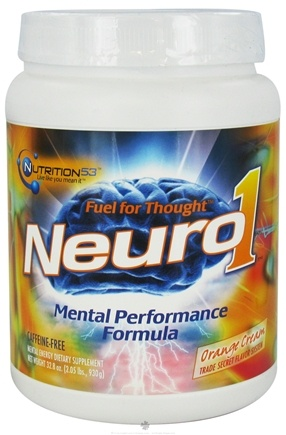DROPPED: Nutrition 53 - Neuro1 Mental Performance Formula Caffeine-Free Orange Cream - 2.05 lbs.