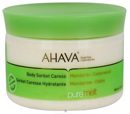 DROPPED: AHAVA - Pure Spa PureMelt Body Sorbet Caress Mandarin-Cedarwood - 12.3 oz. CLEARANCE PRICED