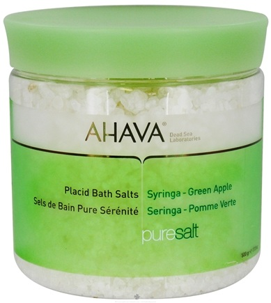 DROPPED: AHAVA - Pure Spa PureSalt Placid Bath Salts Syringa-Green Apple - 17.5 oz. CLEARANCE PRICED