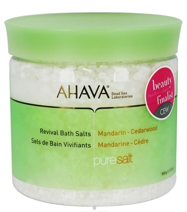 DROPPED: AHAVA - Pure Spa PureSalt Revival Bath Salts Mandarin-Cedarwood - 17.5 oz. CLEARANCE PRICED