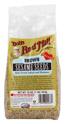 Bob's Red Mill - Natural Brown Sesame Seeds - 16 oz.