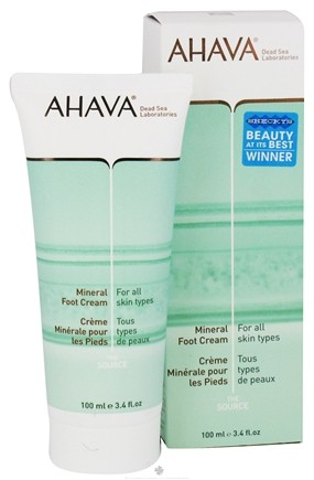DROPPED: AHAVA - The Source Mineral Foot Cream For All Skin Types - 3.4 oz. CLEARANCE PRICED