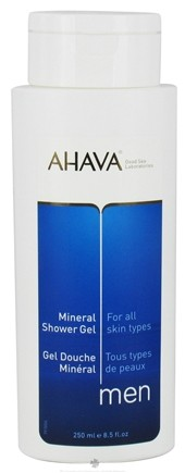 DROPPED: AHAVA - Men Mineral Shower Gel For All Skin Types - 8.5 oz. CLEARANCE PRICED