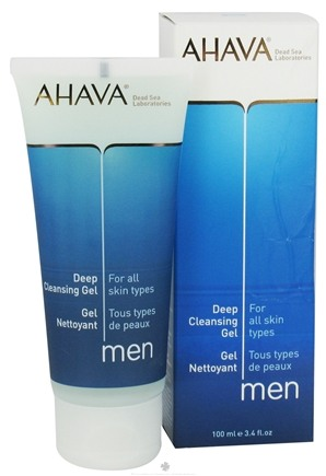 DROPPED: AHAVA - Men Deep Cleansing Gel For All Skin Types - 3.4 oz. CLEARANCE PRICED