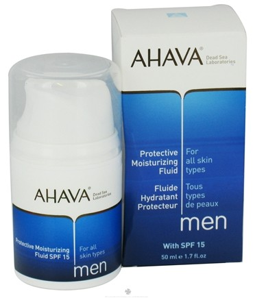 DROPPED: AHAVA - Men Protective Moisturizing Fluid For All Skin Types 15 SPF - 1.7 oz. CLEARANCE PRICED
