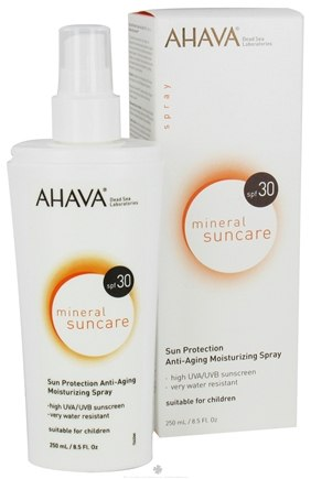 DROPPED: AHAVA - Mineral Suncare Sun Protection Anti-Aging Moisturizing Spray 30 SPF - 8.5 oz. CLEARANCE PRICED