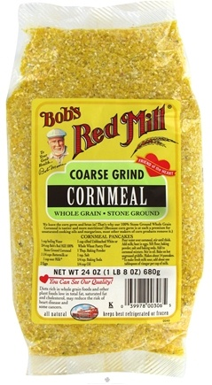 DROPPED: Bob's Red Mill - Cornmeal Coarse Grind Whole Grain Stone Ground - 24 oz. CLEARANCE PRICED