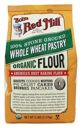 Bob's Red Mill - Organic Whole Wheat Pastry Flour - 5 lbs.