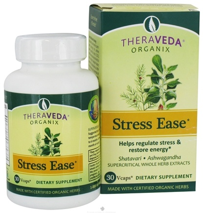 DROPPED: Organix South - TheraVeda Organix Stress Ease - 30 Vegetarian Capsules CLEARANCE PRICED